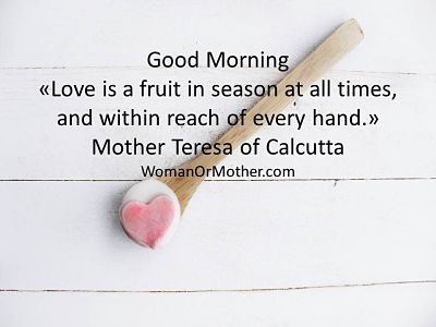 Good Morning Love is a fruit in season at all times, and within reach of every hand