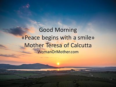 Good Morning Peace begins with a smile