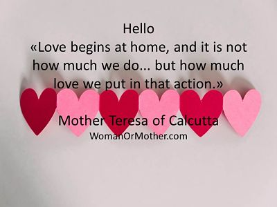 Hello Love begins at home, and it is not how much we do