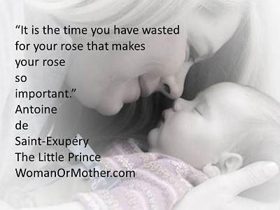 Aphorisms It is the time you have wasted for your rose Antoine de Saint-Exuperry, The Little Prince